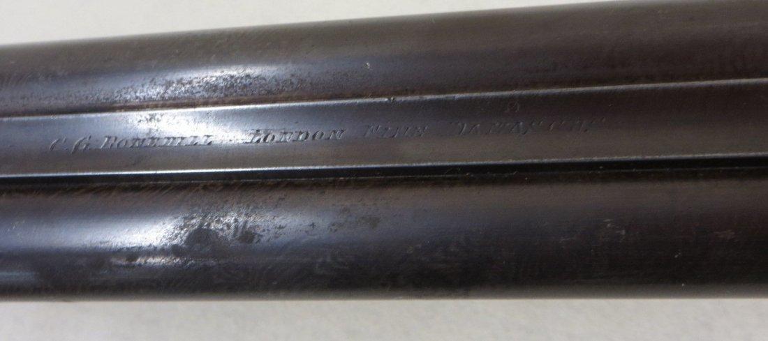 C.G. Bonehill double barrel SxS hammer 12 gauge shotgun - 5