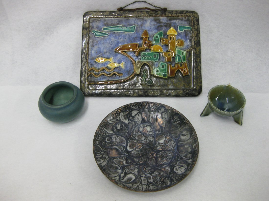 Grouping of 4 mid-century porcelain items including