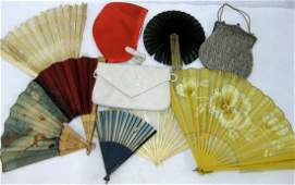 Grouping of lady's articles including a 1950's orange