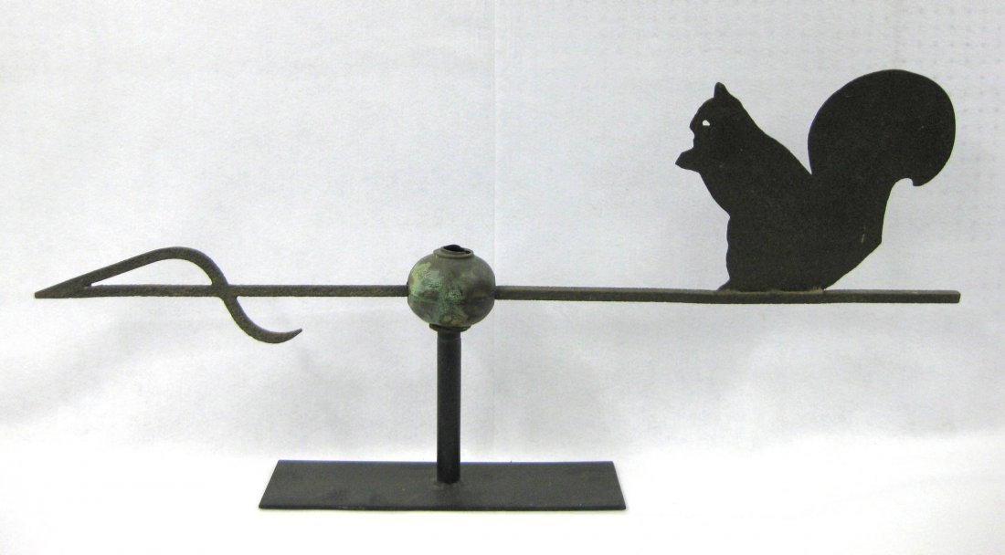 Silhouette sheet metal squirrel weathervane with cast - 6