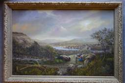 Albert Nemethy - O/C Landscape of Cold Spring harbor.
