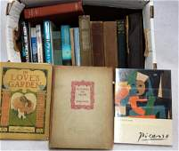 Collection of miscellaneous books including novels art