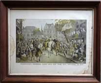 "Hand colored lithograph entitled ""Washington's"