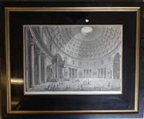Large folio engraving the Panteon Rotunda