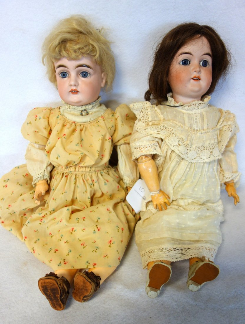 Two dolls including: Kestner #129 with a porcelain head
