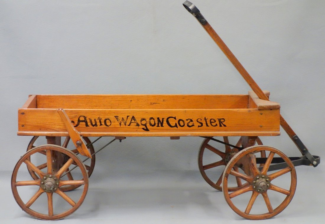 "Childs wagon ""Auto Wagon Coaster"" with hand brake."