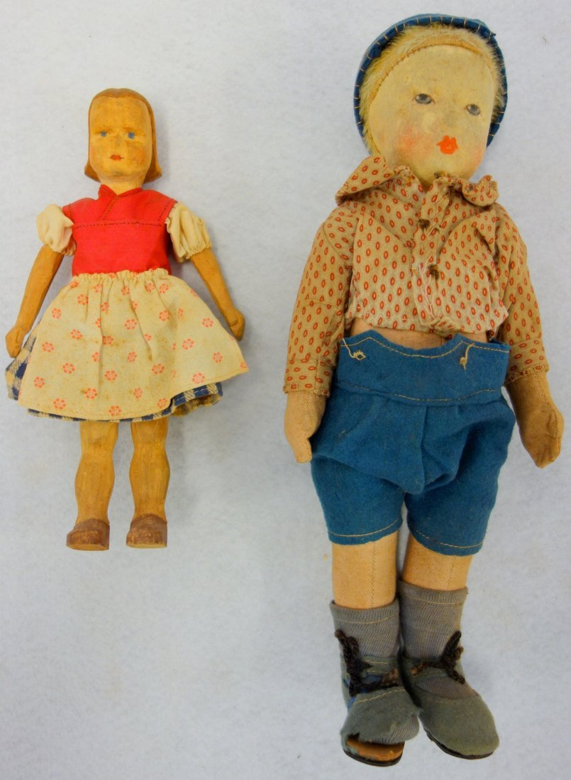 Two dolls including: Bing Art doll circa 1925 with