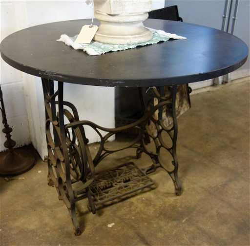 Table With A Cast Iron New Royal Sewing Machine Base Inspiration Table With Sewing Machine Base