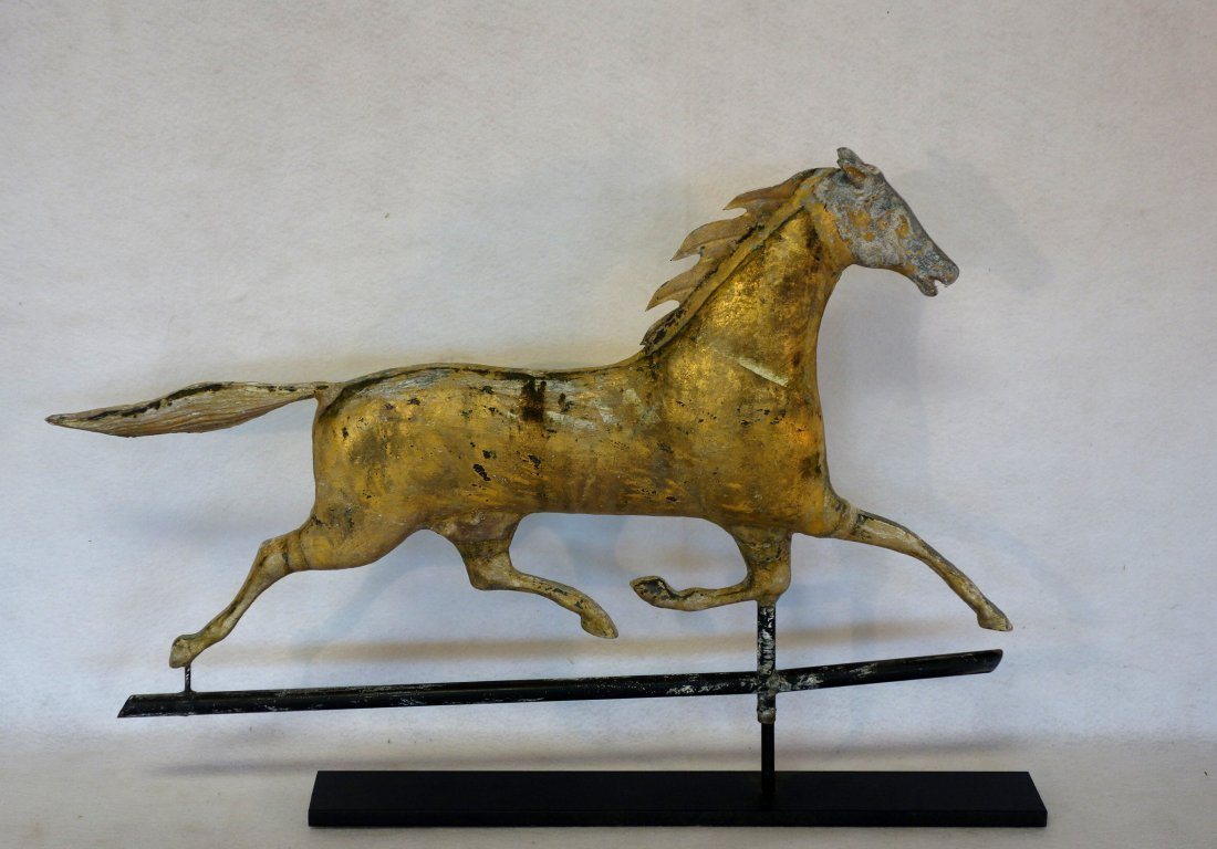 Ethan Allen running horse full body copper weathervane