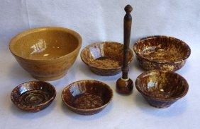Grouping Of Bennington Flint Glaze Pottery Including