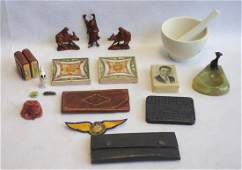 Grouping of miscellaneous decorative items including
