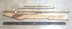 Grouping Of 5 Large Mostly Wooden Tools Including 2