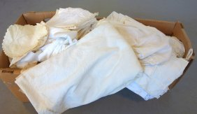 Two Boxes Of Linens Including Sheets (some With