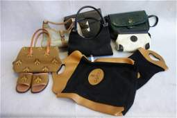 Grouping of ladies articles including 2 Gucci handbags