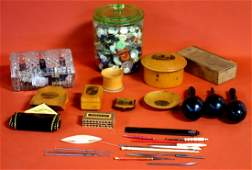 Large grouping of mostly sewing related items including