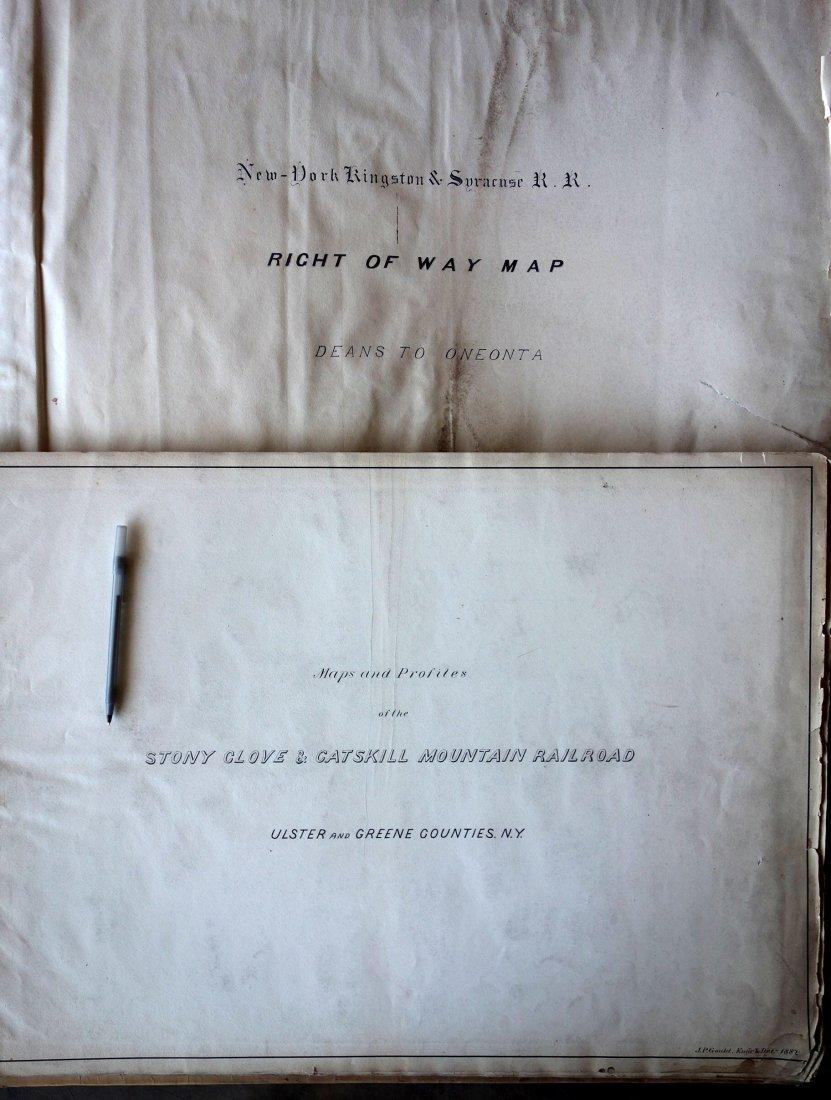 Two large folio bindings containing original hand drawn
