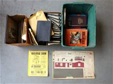 Three boxes of model railroad related books including