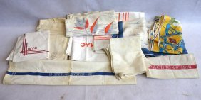 Grouping Of Railroad Related Textiles Including 3