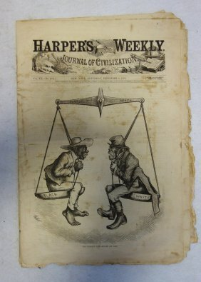 Harper's Weekly Dated 1876 With Figural Black & White