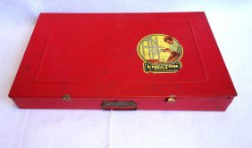 Large Erector Set In Original Red Box - 1949 - With