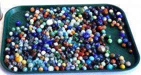 Large Lot Of Old Marbles.