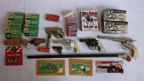 Grouping Of Cap Guns & Related Toys Including Boxes Of