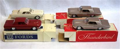 Grouping of 4 automobile dealership promotion vehicles