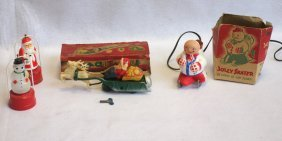 Grouping Of Christmas Decorations Including 2 Battery