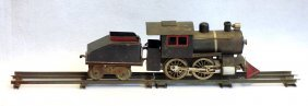 Lionel No. 5 Steam Locomotive With Tender, Circa 1907 -