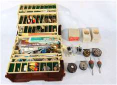 Large grouping of fishing collectibles including