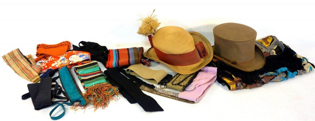 Grouping of lady's and gents articles including belts,