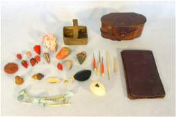Grouping of sewing related articles including egg