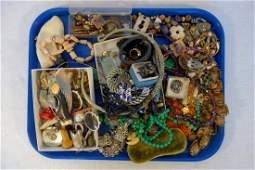 Large lot of vintage costume jewelry including some Art