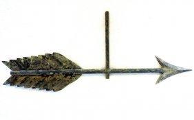 "Copper Arrow Weathervane - 26""l - Lead Or Zinc Tip -"