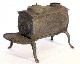 Early Cast Iron Parlor Stove By The Tyson Furnace,