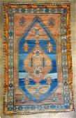 Oriental scatter rug, very good condition. Late 19th to