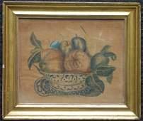 Theorem on velvet of fruit in a bowl, in period lemon