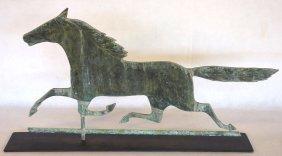 Smuggler Copper Horse Weathervane With Good Verdigris -