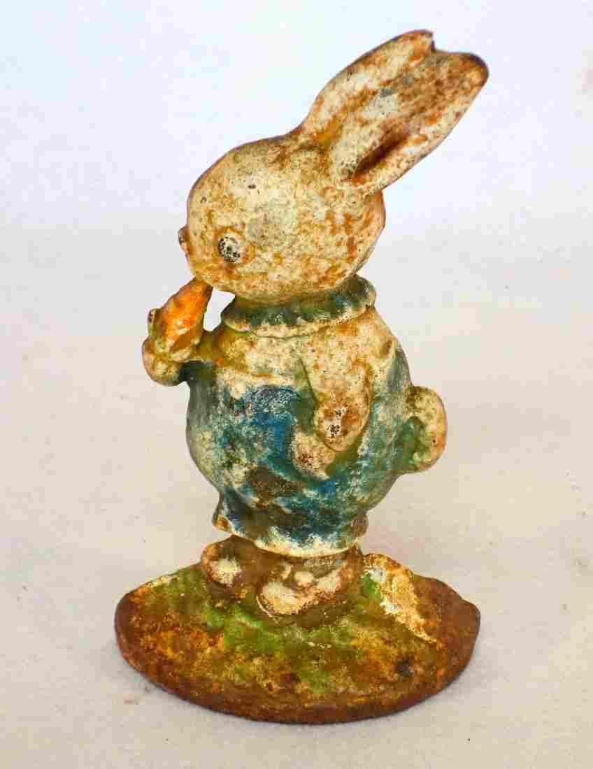 Cast iron Peter Rabbit door stop, Hubley No. 36.,