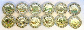 Collection Of 12 Dinner Plates With Currier & Ives