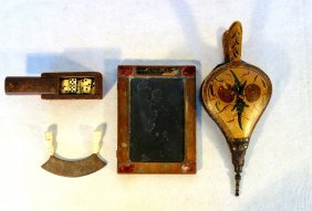 Four Country Primitives Including Paint Decorated