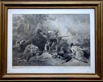 Large folio Revolutionary War engraving entitled