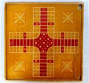 Double sided game board in original paint including