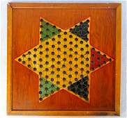 Chinese checkers game board in original paint Very