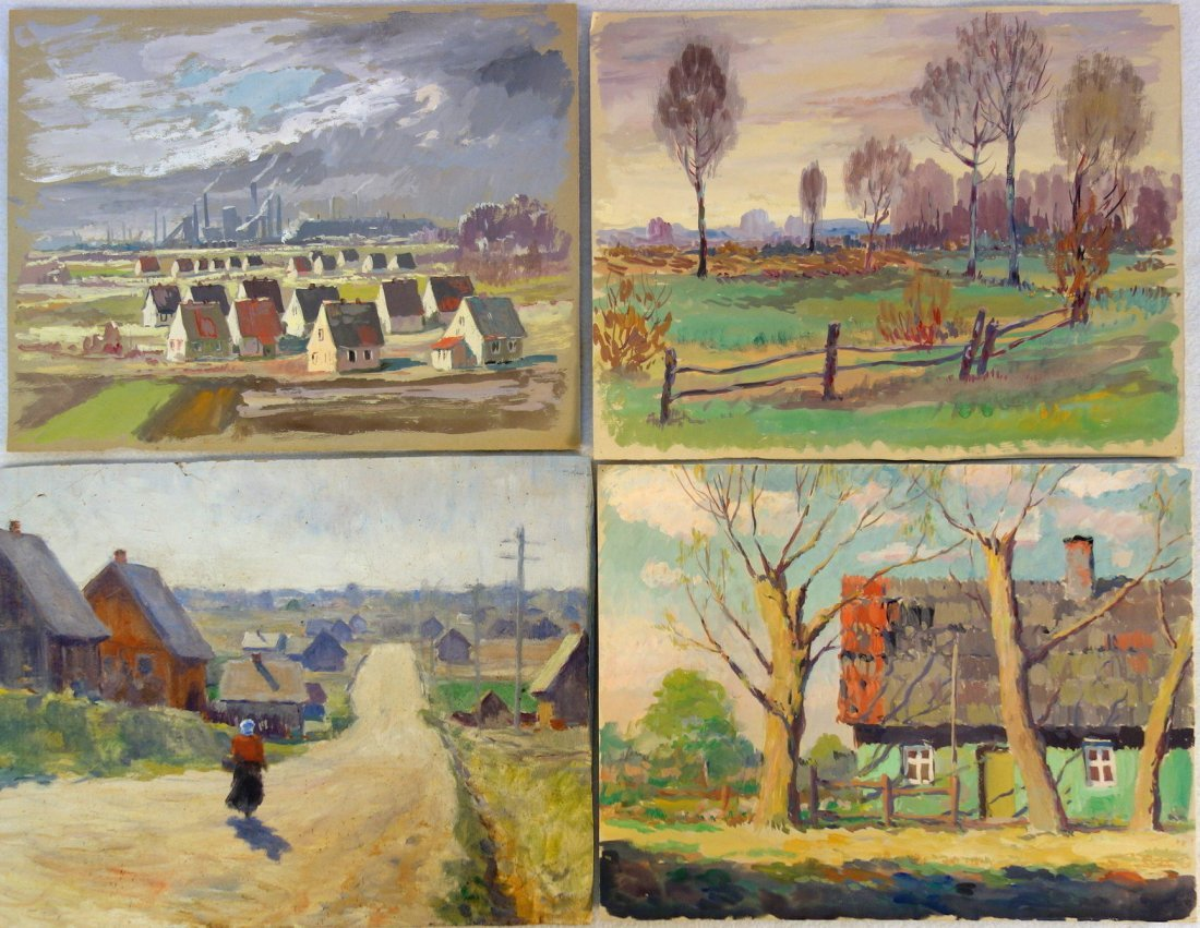 Grouping of 14 mostly impressionist landscapes by a - 5
