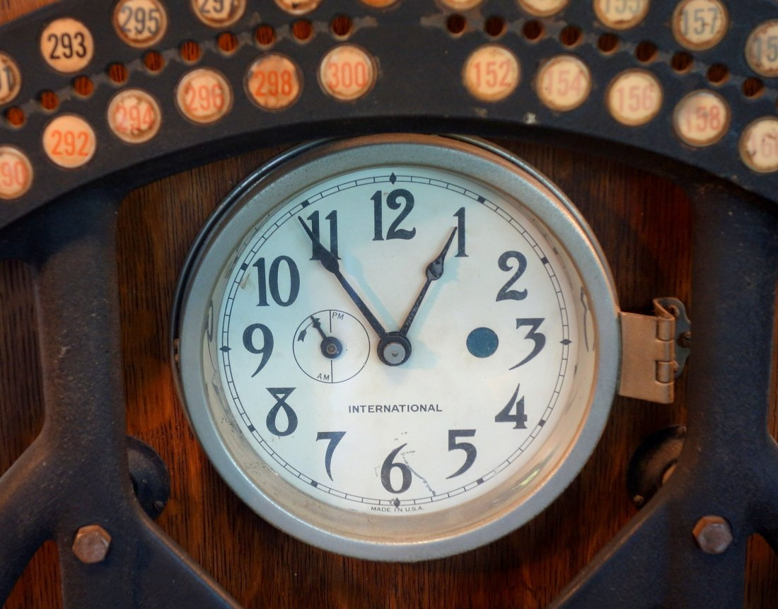 International Time Recording Company clock, one of the - 2