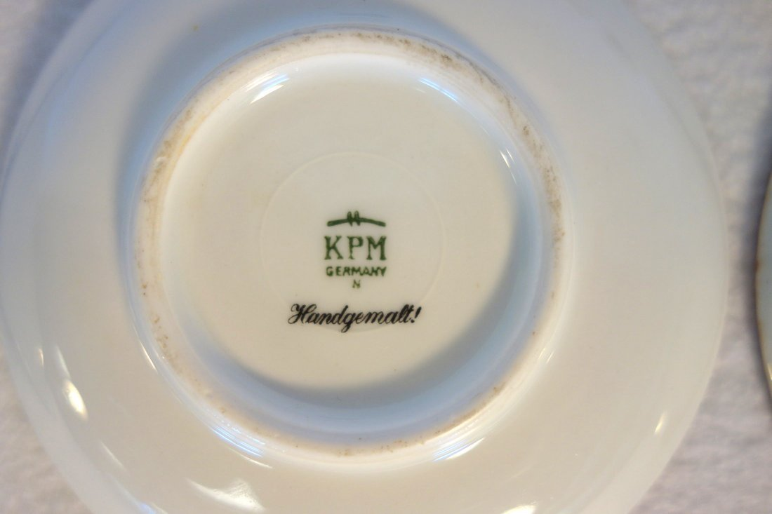 Grouping of 4 demitasse cups and saucers including - 5