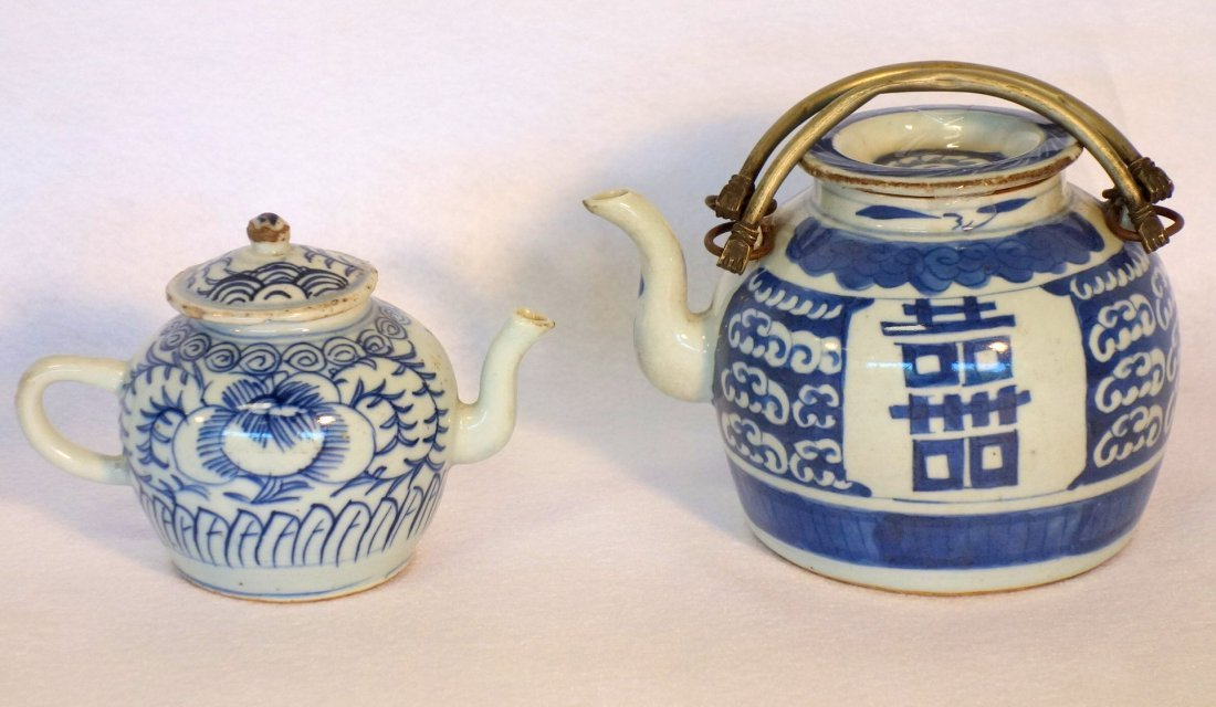 Grouping of 5 pieces of oriental china including yellow - 6