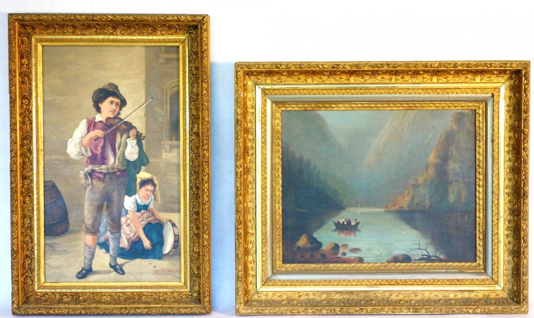 Two 19th century O/C paintings framed in good American