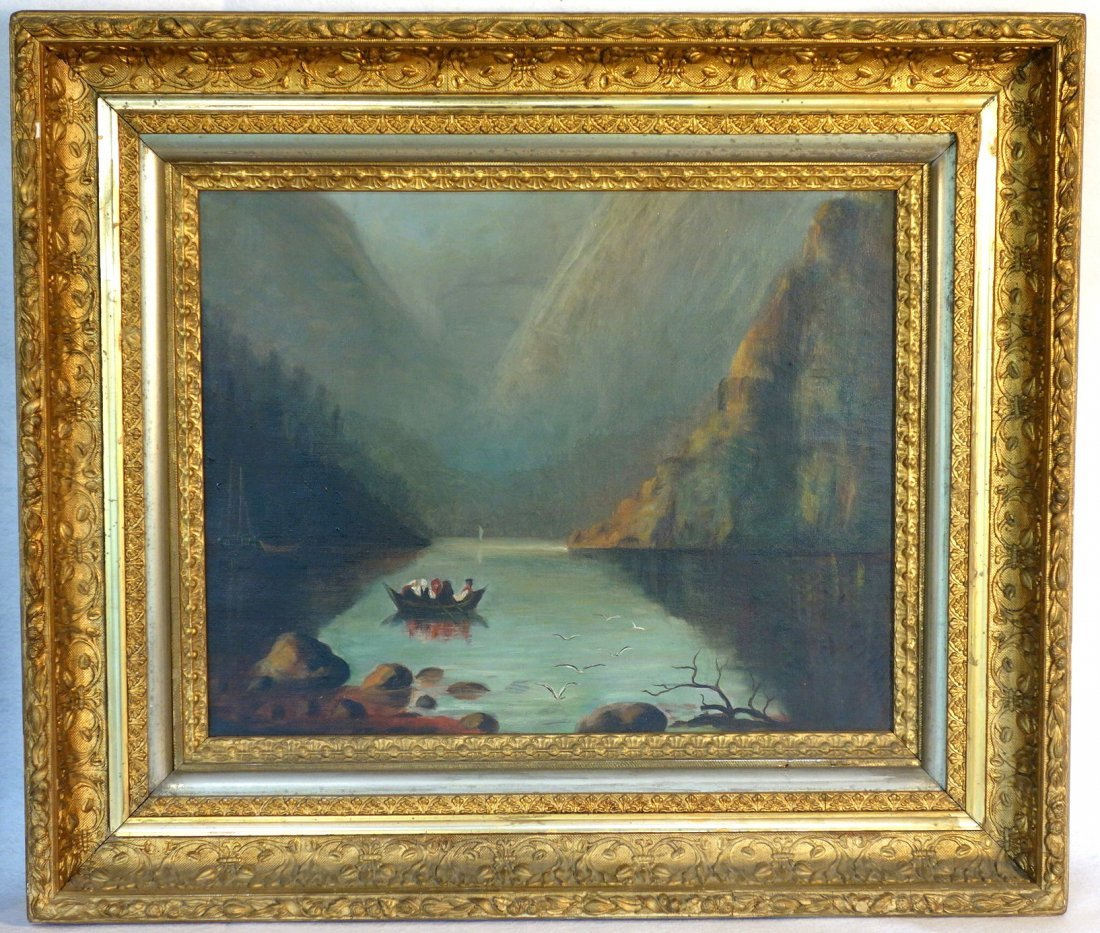 Two 19th century O/C paintings framed in good American - 2
